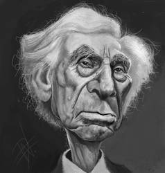 Bertrand Russell Caricature by du-har