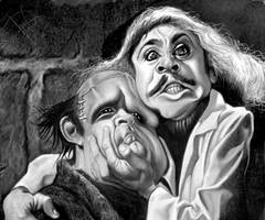 Gene Wilder and Peter Boyle in  Young Frankenstein by du-har