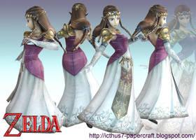 Zelda from Super Smash Bros. by enrique3