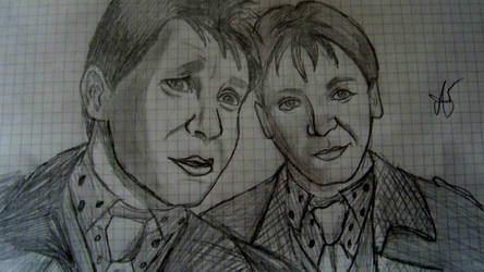 George and Fred Weasley by 4Akikawaiiotaku