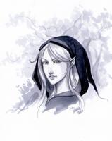 Prismacolor practice: Elf lady by SicilianValkyrie