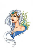 Copic sketch: elven lady by SicilianValkyrie