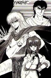 Retro 1997: Yoko, Dark Schneider and Gara by SicilianValkyrie