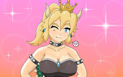 Bowsette Winking by GGkev