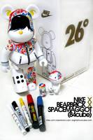 nike x bearbrick x spacemaggot by spacemaggot