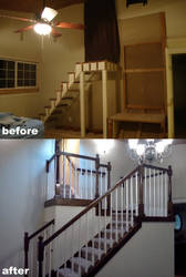 renovation: staircase by Stamps