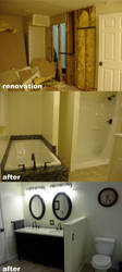 renovation: master bathroom by Stamps
