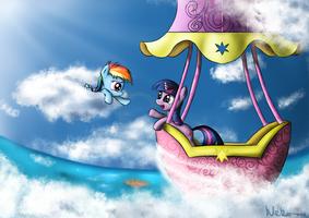 Dashie and Twilight by Neko-me