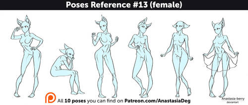Poses Reference #13 (female) by Anastasia-berry