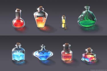 Magic Bottles by Anastasia-berry