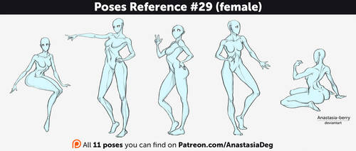 Poses Reference #29 (female) by Anastasia-berry
