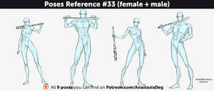 Poses Reference #33 (female + male) by Anastasia-berry