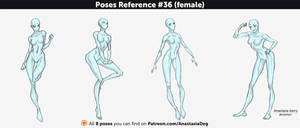 Poses Reference #36 (female) by Anastasia-berry