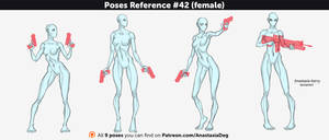 Poses Reference #42 (female) by Anastasia-berry