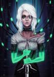 Cyberpunk Ciri by Anastasia-berry