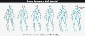 Poses Reference #48 (female) by Anastasia-berry