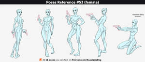 Poses Reference #53 (female) by Anastasia-berry