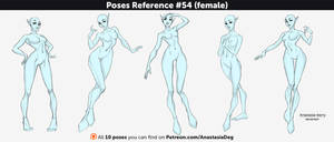 Poses Reference #54 (female) by Anastasia-berry