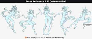 Poses Reference #55 (kemonomimi) by Anastasia-berry