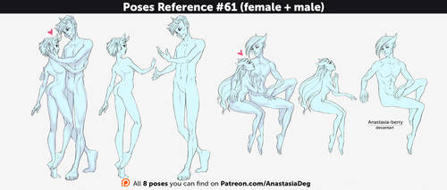 Poses Reference #61 (female + male) by Anastasia-berry