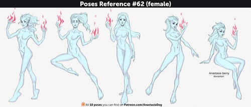 Poses Reference #62 (female) by Anastasia-berry