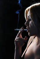 smoking by Ajaka