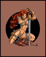 Red Sonja by Wytherwing COLOR by Voodoodwarf