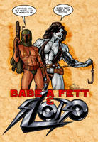 Babe-a-Fett and Slobo by Rob by Voodoodwarf