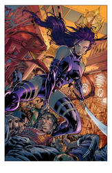 Psylocke by Harvey and James COLORED by Voodoodwarf