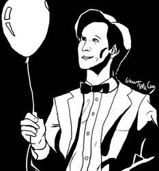 Eleventh Doctor and a Balloon by dedicatedfollower467