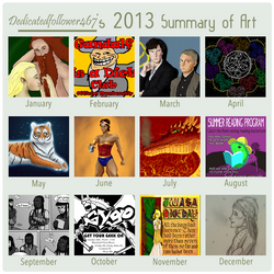 2013 Summary of Art by dedicatedfollower467
