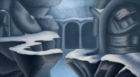 Frozen Landscape WIP(?) by tymora11