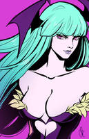 Morrigan color sketch by Geek-Cat