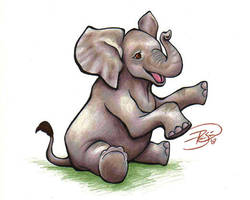 Baby Elephant by rosiesinner