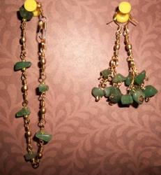 quartz earrings and bracelet by palapala12