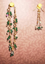 green and clear crystal set by palapala12