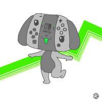 Nintendo Switch Dog by JK-Kino