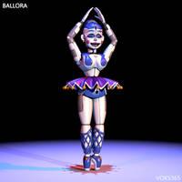 [C4D|FNAF:SL|REMAKE] Ballora Extra v.Idk by Voks365