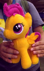 Handmade My Little Pony Scootaloo Plush by Slipsntime