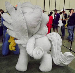 Doctor Who Weeping Angel Pony Filly Side View by Slipsntime