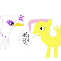 Fluttershy Scolds Gilda by MasterYubel