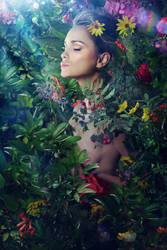 On A Bed Of Flowers - Cassandra by b-e-c-k-y