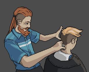 Pixel Dailies - Haircut by 1bardesign