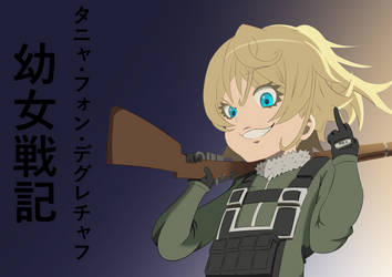 Tanya von Degruechaff (YOUJO SENKI FAN ART) by DarkLored123