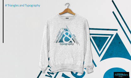 Shirt Design (Triangles and Typography) by ShatteredGraphicss