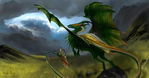 Emerald of the Grasslands by rah-bop