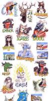 Rainfurrest badges by rah-bop