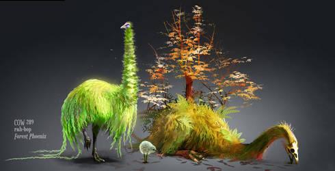 Forest Phoenix by rah-bop
