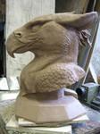 Gryphon bust by rah-bop