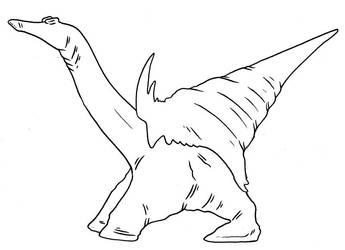 The Future is Wild - Crane-necked Ambler by Pristichampsus